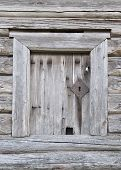 Door Of Old Wooden Barn