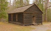 Preserved One-room School House In The Wilderness