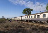 Train on the historic Uganda Railway