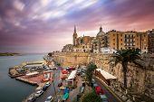 Valletta Skyline In The Cloudy Morning, Malta