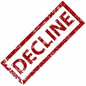 Decline rubber stamp