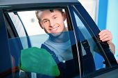stock photo of car-window  - Welcome to our car service station - JPG