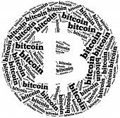 Word Cloud Illustration Related To Bitcoin Currency.