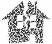 House Insurance. Word Cloud Illustration.