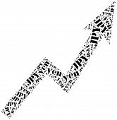 Yen Currency Growth. Word Cloud Illustration.