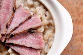 Beef And Mushroom Barley Risotto