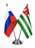 Russia and Abkhazia - Miniature Flags.