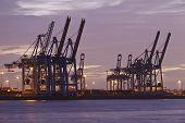 Hamburg - Port In The Evening
