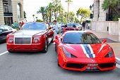 Rolls-royce Drophead Coupe And Ferrari 458 Italia Speciale