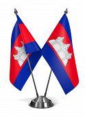 Cambodia - Miniature Flags.