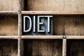 Diet Letterpress Type In Drawer