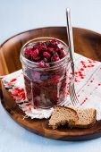 Russian Beetroot Salad In Glass Jar