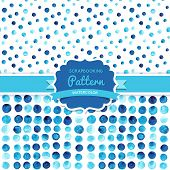 Vector watercolor circles seamless pattern tiled. Retro paints