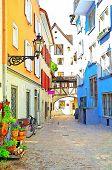 quaint Austrian town street