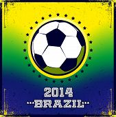 Brazilian football poster. Summer 2014