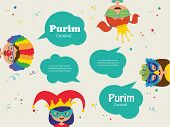 foto of purim  - kids wearing different costumes - JPG