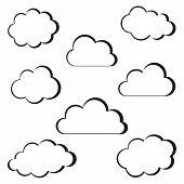 Black Clouds Outline