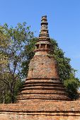 Pagoda At Wat Mahaeyong, The Ruin Of A Buddhist Temple In The Ayutthaya Historical Park