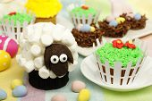Spring themed animal cupcakes