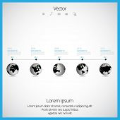 Timeline vector infographic