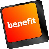 Benefit Button On Keyboard Key With Soft Focus