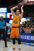 VALENCIA, SPAIN - FEBRUARY 11: Nedovic during Eurocup match between Valencia Basket Club and Lokomotiv Kuban Krasnodar at Fonteta Stadium on February 11, 2014 in Valencia, Spain