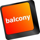 Balcony Computer Keyboard Key Button, Business Concept