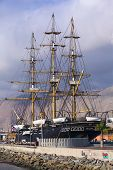 Replica of the Ship Esmeralda in Iquique, Chile