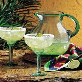 image of pitcher  - two glasses of margaritas with a pitcher - JPG