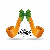 a pair of golden smoke pipes and text for patrick's day