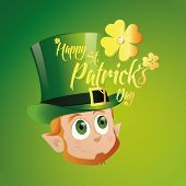 a colored background with the head of an irish elf for patrick's day