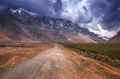 the road in himalayas mountain