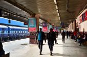 Jaipur, India - January 3, 2015: A Passenger Train Arriving At A Station Of Jaipur