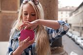Tourist In Europe Spending Some Money