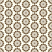 Brown Vintage Modern Flower Pattern On Pastel Color
