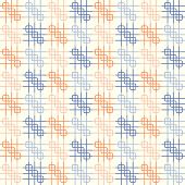 Blue And Orange Rounded Corner And Line Pattern On Pastel Background