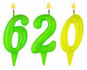 Candles Number Six Hundred Twenty