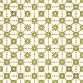 Green Vintage Flower And Swirl Pattern On Pastel Background