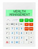 Calculator With Wealth Management