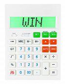 Calculator With Win