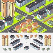 Isometric Dwelling Buildings