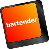 image of bartender  - message bartender on enter key of keyboard - JPG