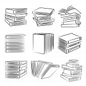 pic of sketch book  - set of 9 sketch book and paper icons - JPG