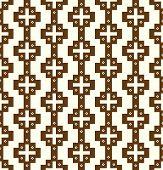 Brown Vintage Plus Symbol And Flower Pattern On Pastel Background