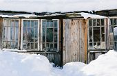 Old wooden porch
