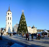 Vilnius City Capital Of Lithuania Cathedral Place View