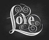 Love. Hand lettering. Handmade calligraphy