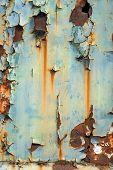 Industrial worn metal closeup photo