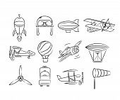 sketch aviation icons