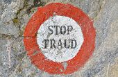 image of precaution  - Text message as appeal to combat fraud - JPG